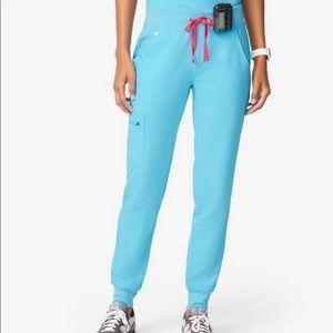 Figs neon blue Zamora joggers L